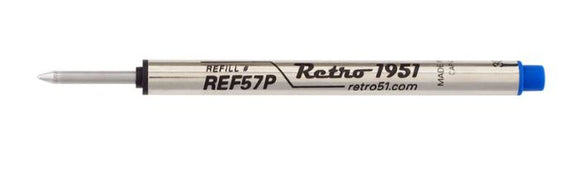Retro51 Blue Rollerball Pen Refills REF57P-B (3 Pack) - Gear Supply Company