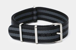 "20mm ""SB"" Black/Gray Bond Seat Belt Strap - Gear Supply Company"