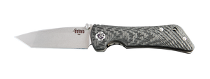 SPIDER MONKEY TANTO SATIN BLADE CARBON FIBER HANDLE - Gear Supply Company