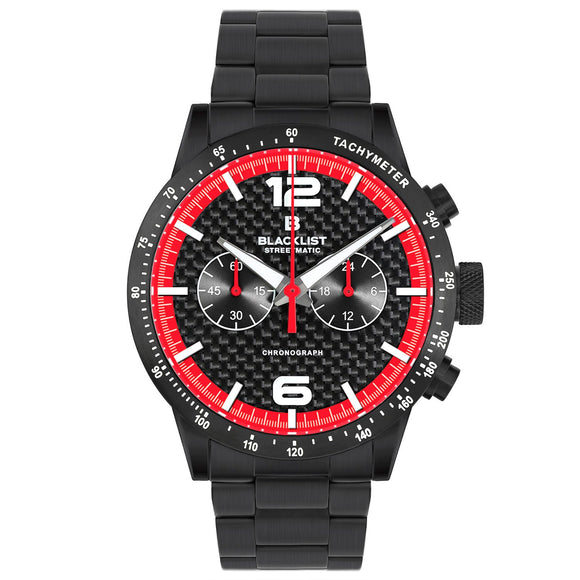 Blacklist Streetmatic Chronograph Rosso Corsa - Black - Gear Supply Company