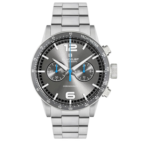 Blacklist Streetmatic Chronograph Grey Sunray - Steel - Gear Supply Company