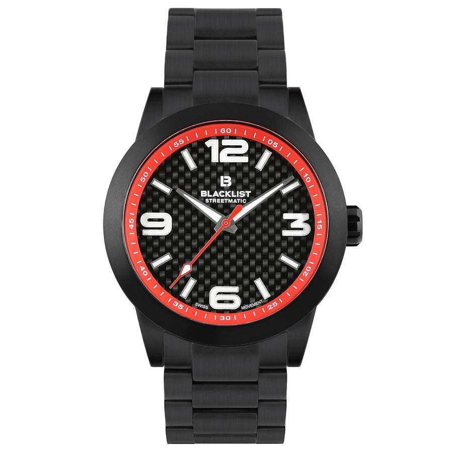 Blacklist Streetmatic Quartz Rosso Corsa - Black - Gear Supply Company