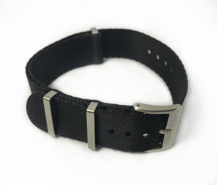 "22mm ""SB"" Solid Black Seat Belt Strap - Gear Supply Company"