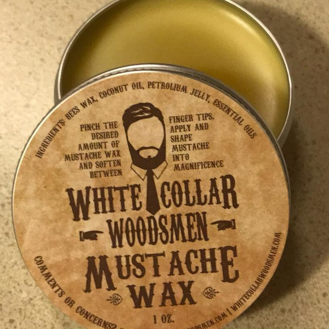MUSTACHE WAX 1oz can - Gear Supply Company