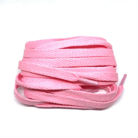 Pink Flat Cotton Shoelaces