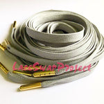 Grey Flat Waxed Shoelaces
