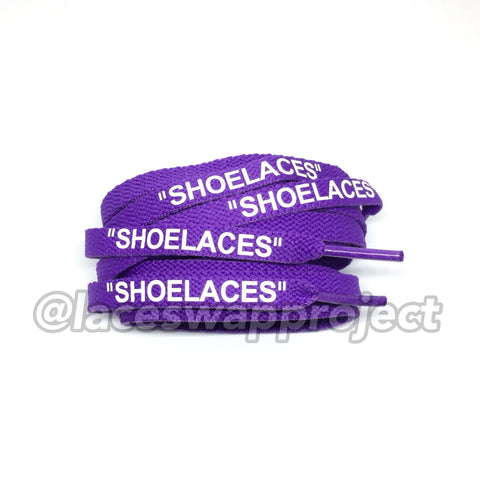 "Purple Flat ""SHOELACES"""