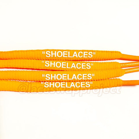 "Orange Oval ""SHOELACES"""