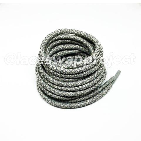Light Grey Reflective Rope Laces