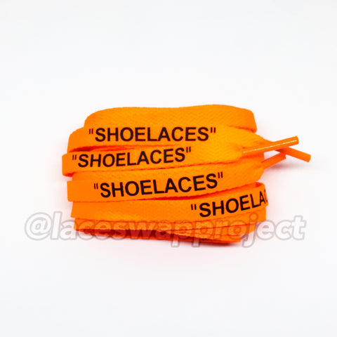 "Orange Flat ""SHOELACES"" V2"