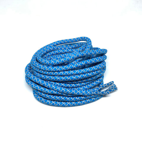 Bright Blue Reflective Rope Laces