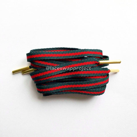 Gucci inspired Shoelaces with Gold Tips