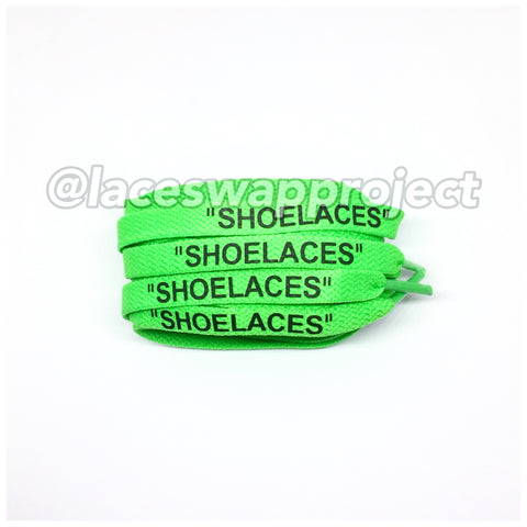 "Neon Green Flat ""SHOELACES"""