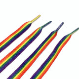 RAINBOW flat shoelaces