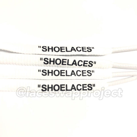 "White Oval ""SHOELACES"""