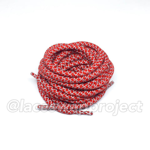 Red Reflective Rope Laces