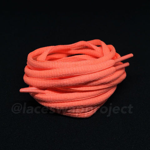 Salmon Pink Oval Laces