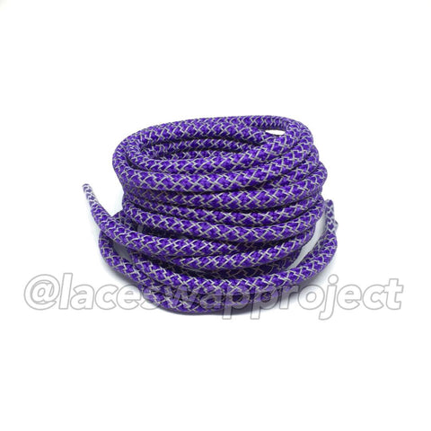 Purple Reflective Rope Laces