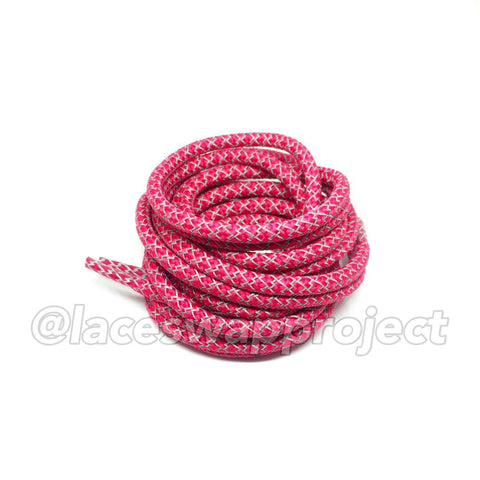 Hot Pink Reflective Rope Laces