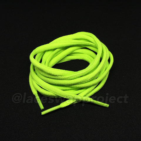 Lime Green Oval Laces