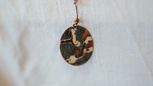 Painted Metal Pendant Necklace