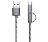 3 in 1 USB Cables (Grey)