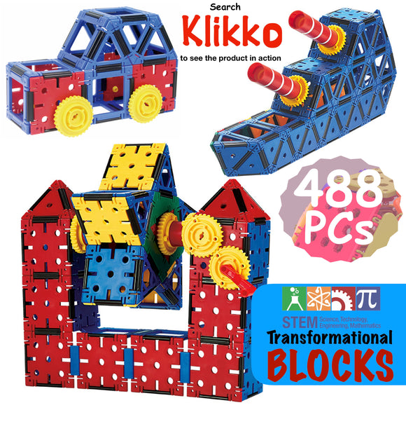 Klikko Building Blocks 488 Pieces
