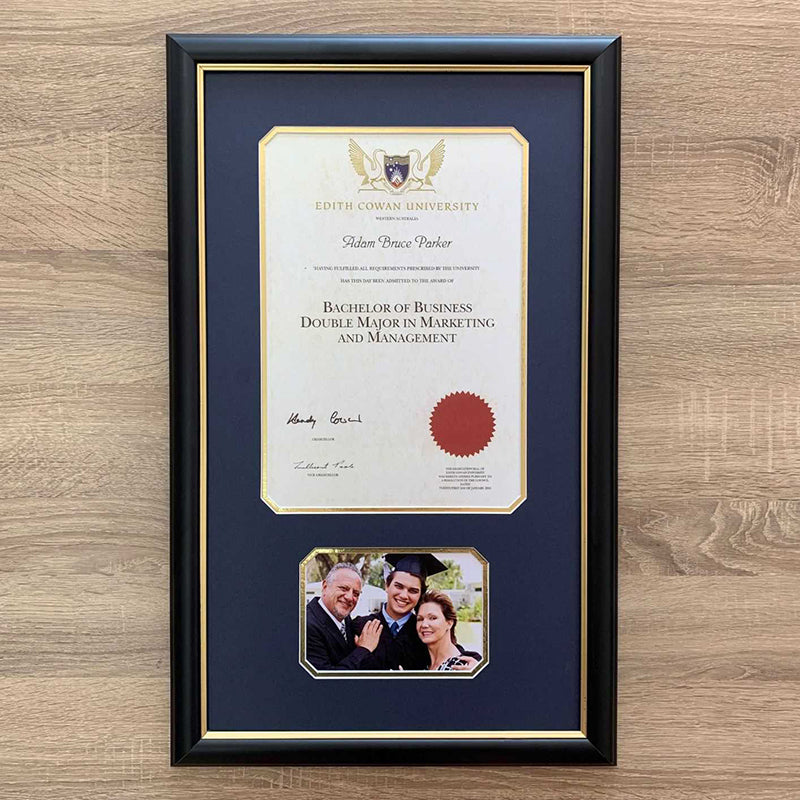 custom certificate framing