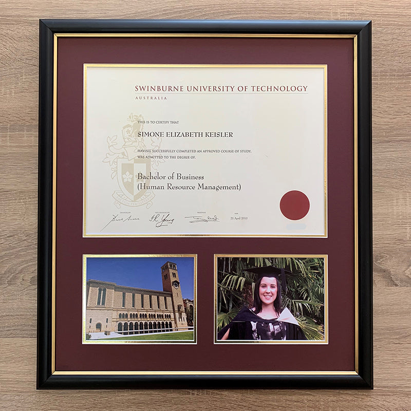 certificate framing service perth