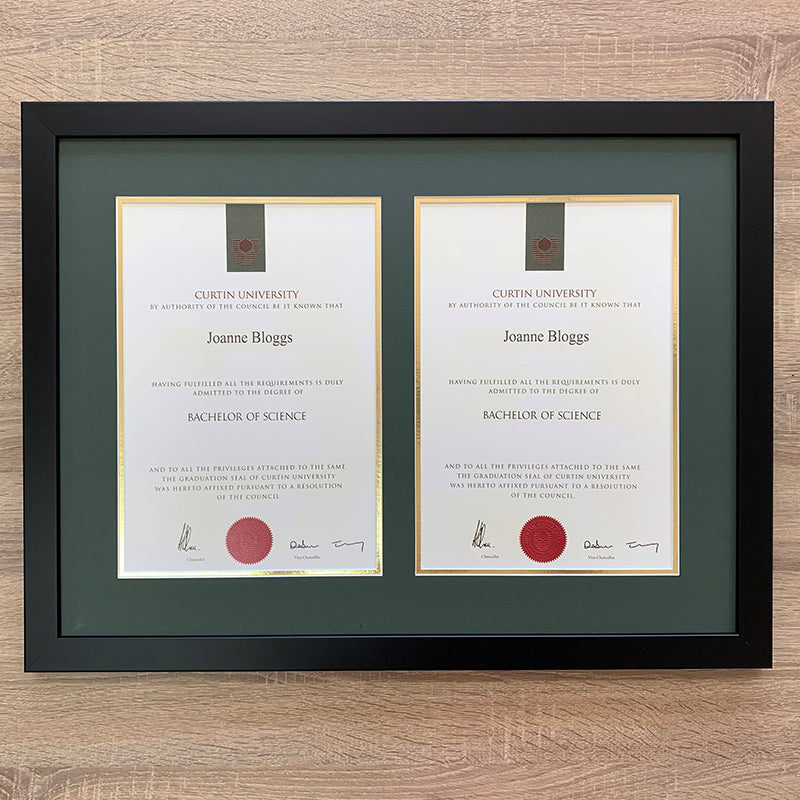 certificate framing perth