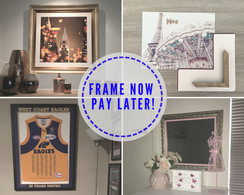 Frame now pay later interest free options