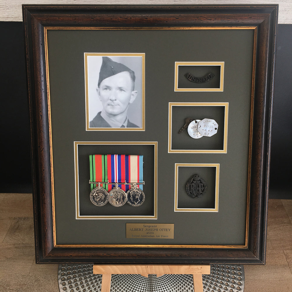custom war memorabilia framing perth