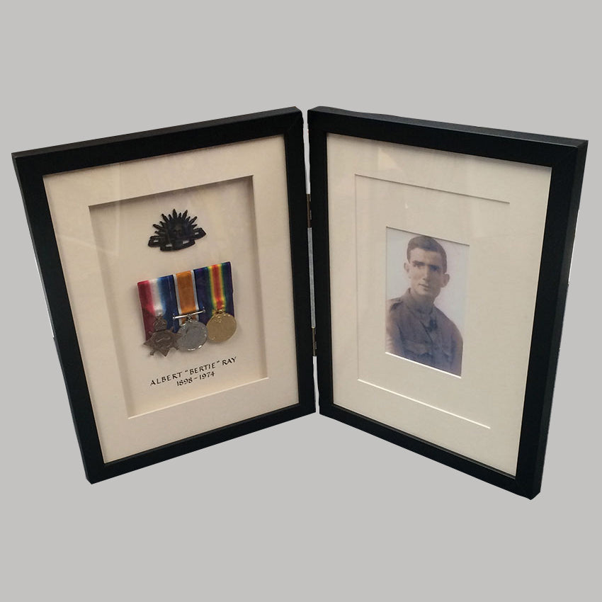 war medal memorabilia framing
