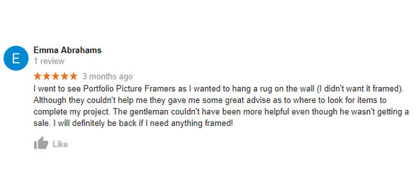 Picture framing reviews Perth