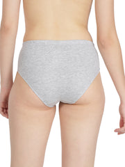Women's Hipster Brief - Grey and Black