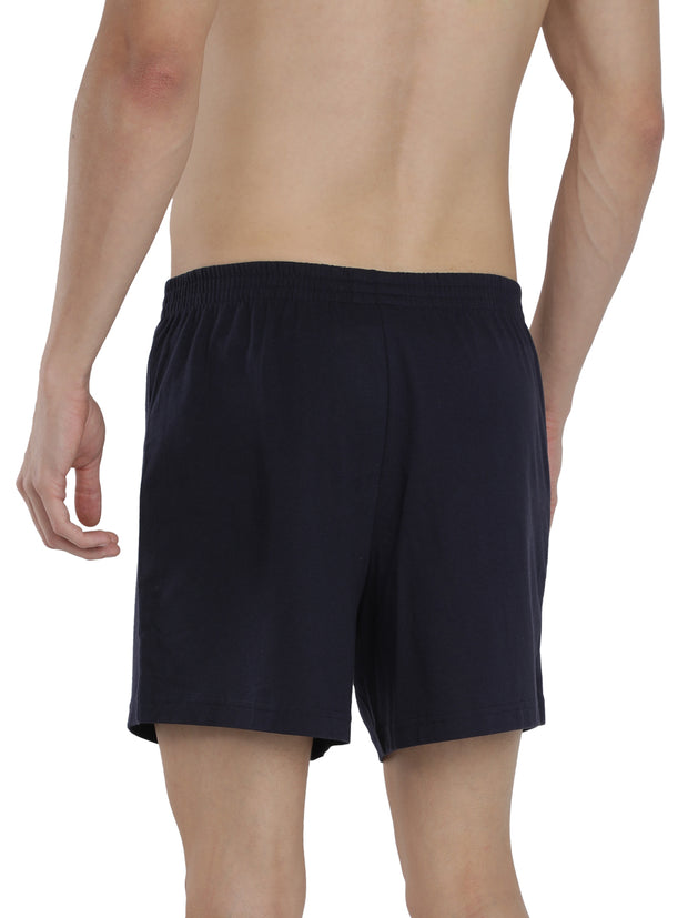 Men's Inner Elastic Boxers - Pack of 2 (Navy, Grey)