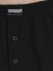 Men's Inner Elastic Boxers - Pack of 2 (Black, Blue)