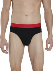 Men's Outer Elastic Briefs - Black, Black