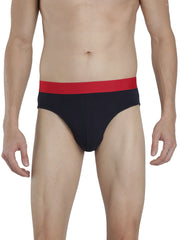 Men's Outer Elastic Briefs - Navy, Melange