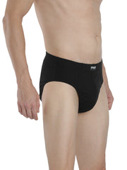 Men's Inner Elastic Briefs - Black, Black (Pack of 2)