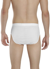 Men's Inner Elastic Briefs - White, White
