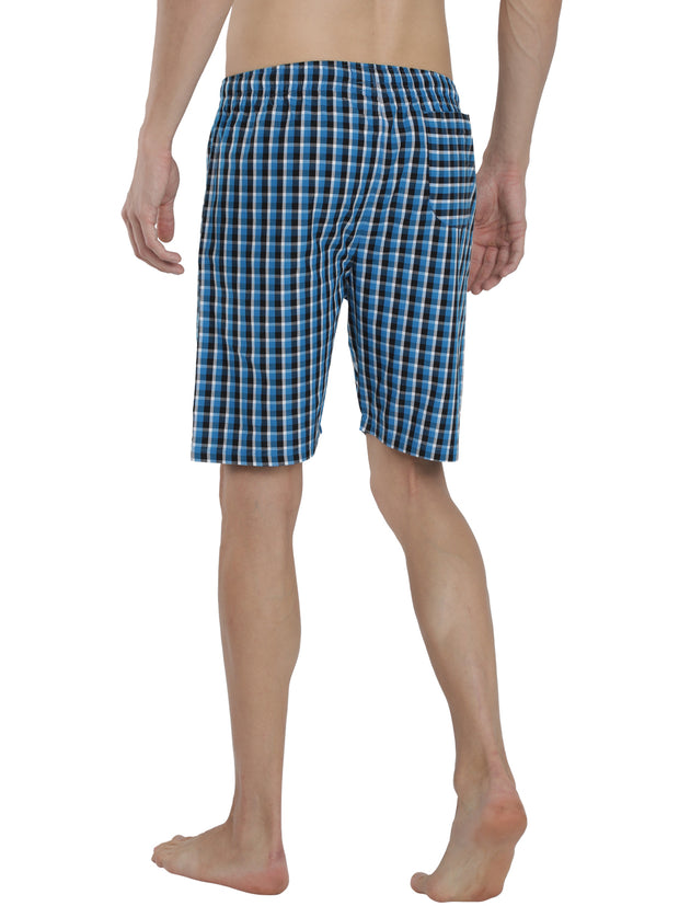 Mens Shorts - Blue Checked