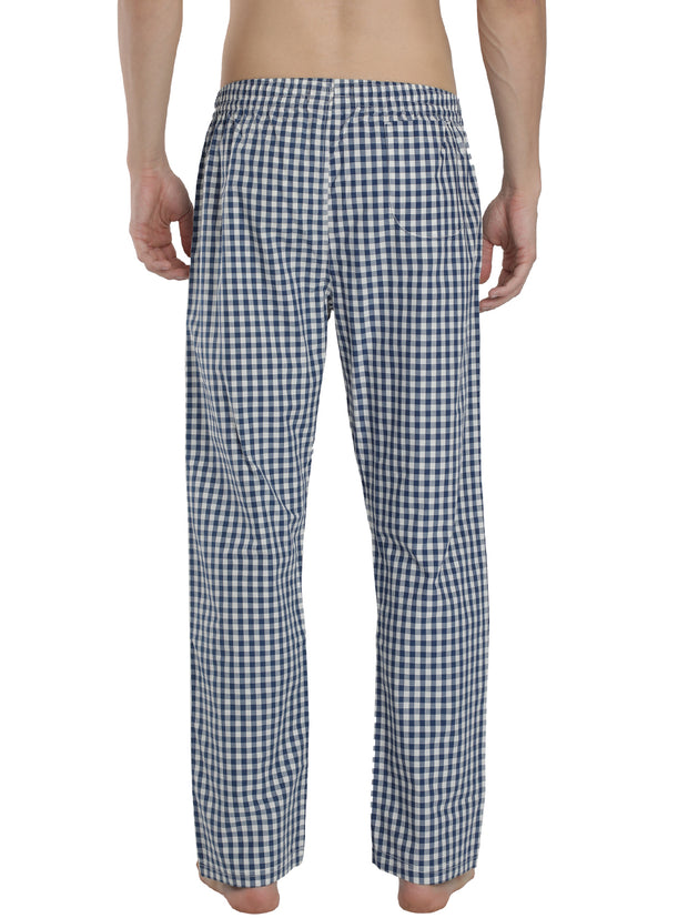 Mens Lounge Pants - Blue Checked
