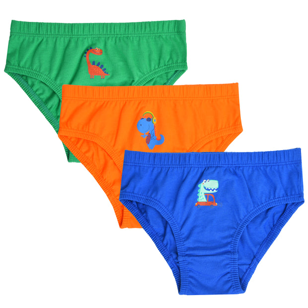 Boys Briefs - Dino Printed - Pack of 3