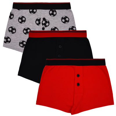 Boys Boxers - Red, Black, and Gray Combo - Pack of 3
