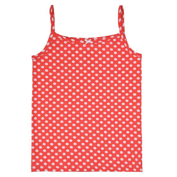 Girls Cami Vests-Polka dotted - Pack of 2