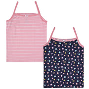 Girls Cami Vests -Star Print - Pack of 2