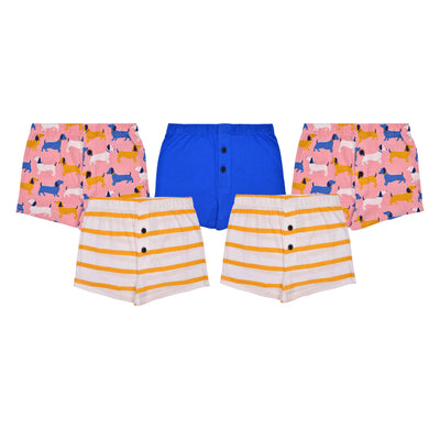 Boys Boxers - Dog Print  Combo - Pack of 5