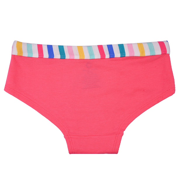 Girls Hispter Briefs - Rainbow Print - Pack of 3