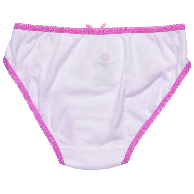 Girls Briefs - Pink and White Unicorn Print - Pack of 3